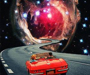 car, galaxy, and space image