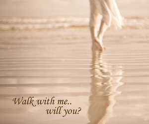 love, walk, and beach image