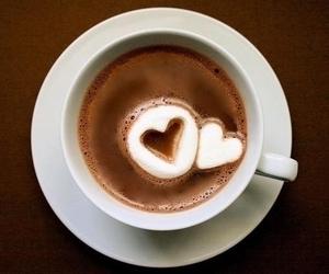 heart, coffee, and chocolate image