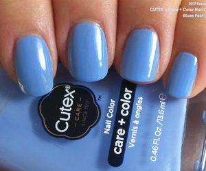 blue, pastel, and nail polish image