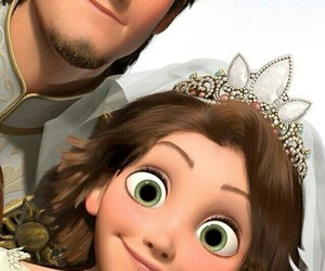 prince, princess, and flynn rider image