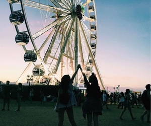 coachella, friendship, and music festival image
