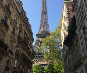 buildings, eiffel tower, and street image