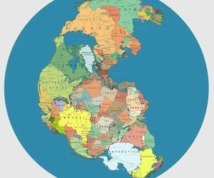 pangea, map, and awesome image