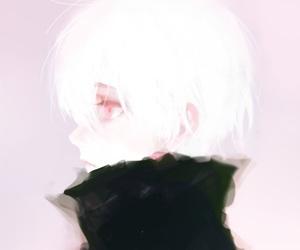 black shirt, guy, and silver hair image