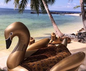 beach, Louis Vuitton, and paradise image