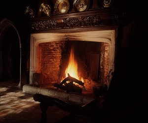 alone, fire place, and hearth image