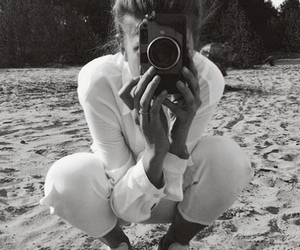 black and white, photograph, and camera image