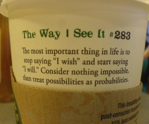 quote, text, and starbucks image