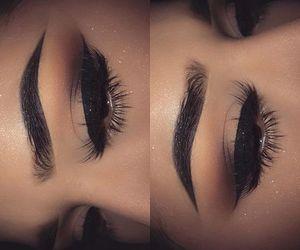 eye makeup, make up, and makeup image