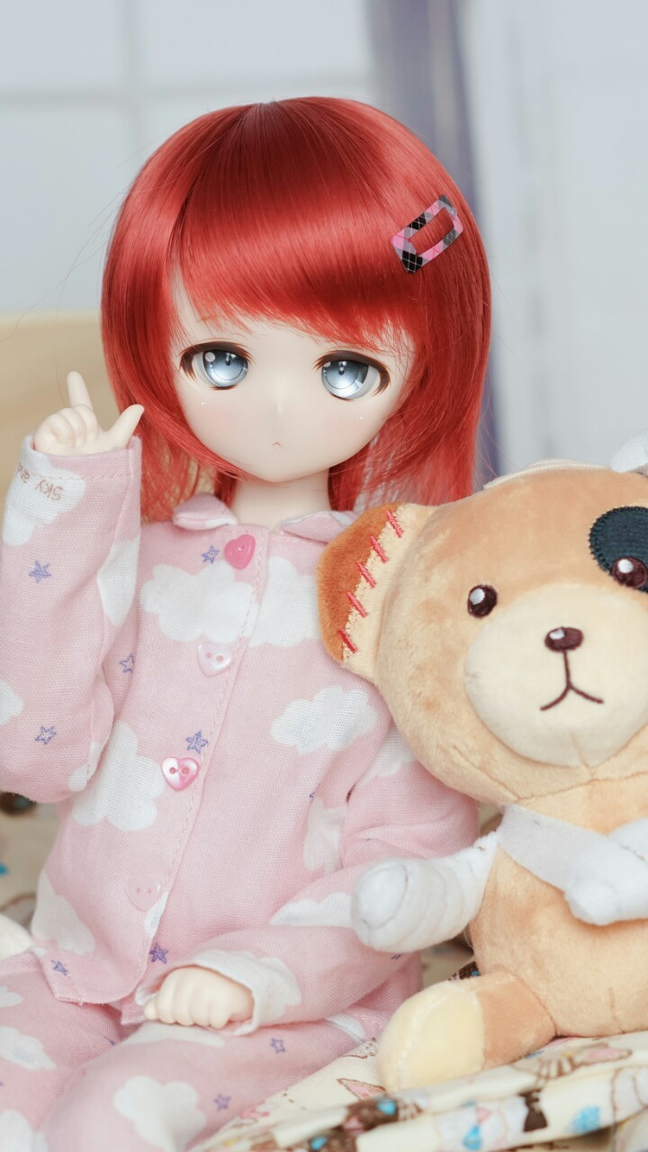 anime, art, baby, baby doll, background, beauty, bjd, colorful