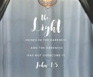 light, bible, and god image
