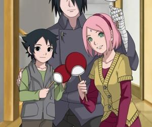 sakura, sasuke, and anime image
