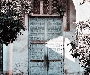 door, travel, and blue image