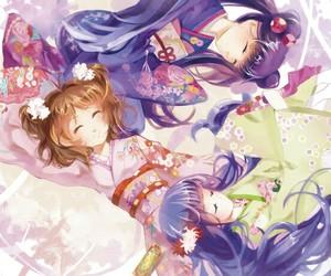 anime, sakura kinomoto, and card captor sakura image