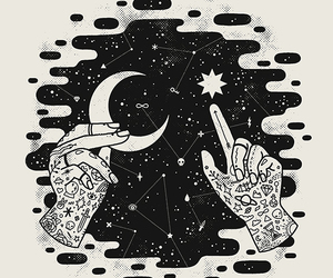 stars, moon, and hands image