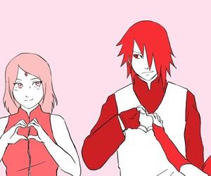 anime, couples, and sakura image