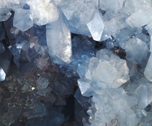 blue, crystal, and aesthetic image