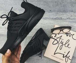 nike, black, and shoes image
