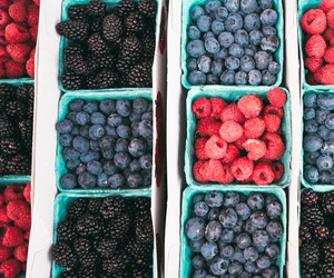blackberries, blueberries, and food image