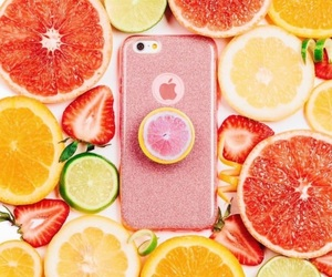 fruit, iphone, and lemon image