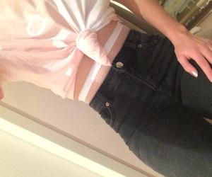 fishnet, jeans, and highwasted image