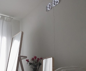 digital clock, indie, and red roses image