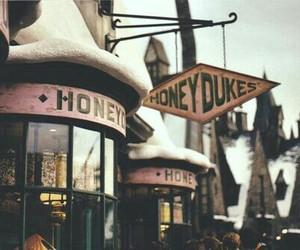 harry potter, honeydukes, and vintage image