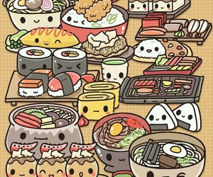 sushi, kawaii, and food image