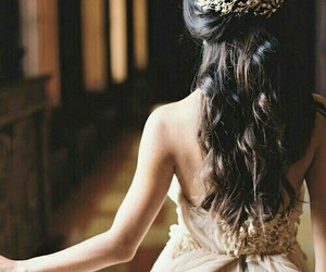 hair, dress, and princess image