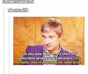 sherlock, Martin Freeman, and funny image