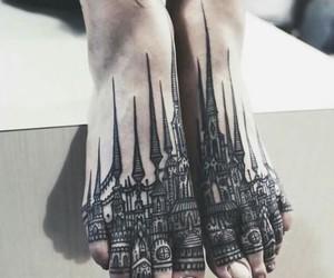 tattoo, feet, and art image