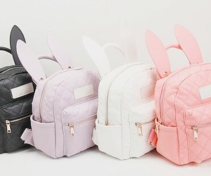 bag, backpack, and bunny image