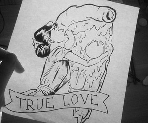 art, drawing, and pizza image