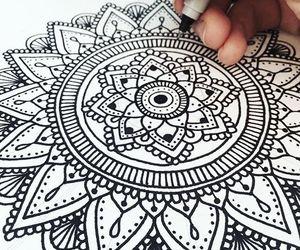 mandala and zentangle image