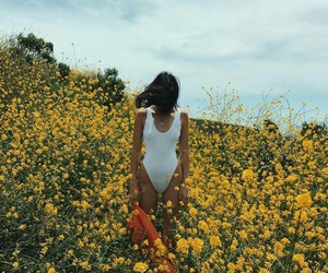 body, fashion, and flower image