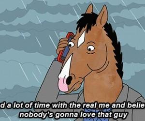 deep, sad, and bojack horseman image