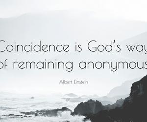 Albert Einstein, destiny, and god image