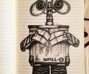 disney, pencil, and wall-e image