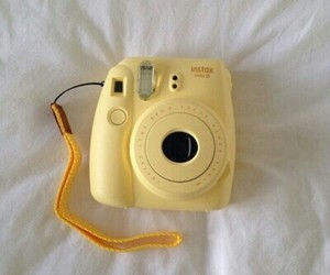 yellow, polaroid, and aesthetic image