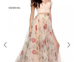 dresses, flowers, and Prom image