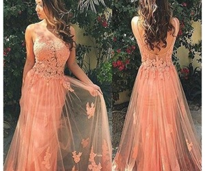 coral, dresses, and Prom image