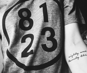 Lyrics, Tattoos, and band tees image