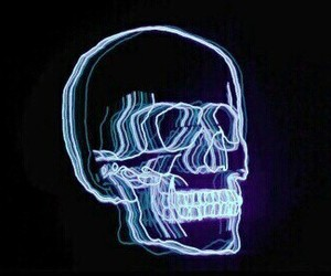 skull, light, and neon image