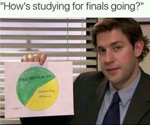 funny, finals, and school image
