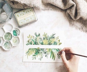 art, green, and drawing image