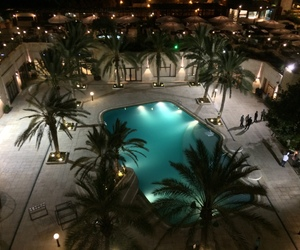 pool, luxury, and night image