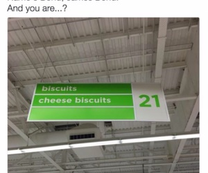 funny, biscuits, and bond image