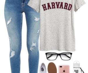 glasses, pink, and harvard image