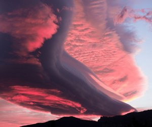 sky, pink, and clouds image